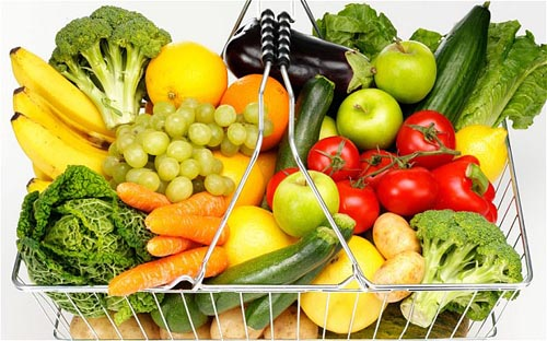 ADAPAP FRUIT AND VEGETABLES IN SHOPPING BASKET
